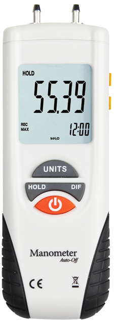 Portable Digital Pressure Gauge Manometer Differential Pressure Meter