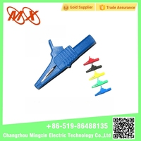 High quality low price jumper test lead small Alligator clips Crocodile electrical wire