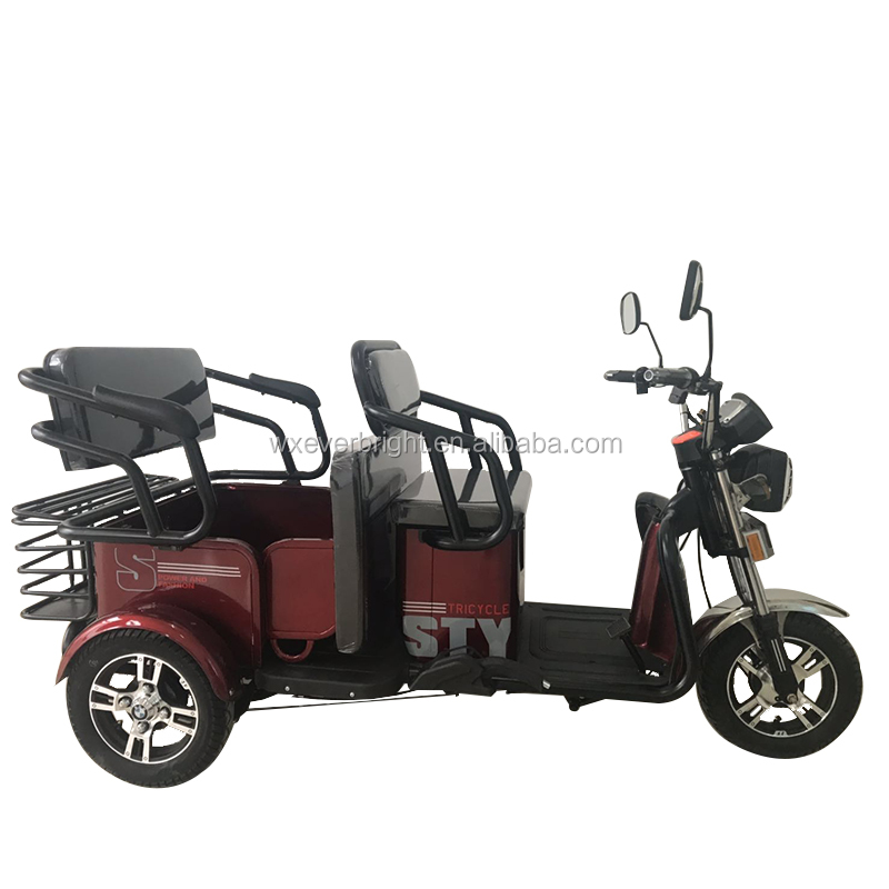 cheap 48v 800w taxi battery powered fast three wheel car bike passenger electric motorcycle rickshaw tricycle