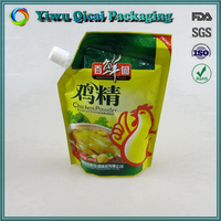 China suppliers stand up plastic packaging pouch with spout top bag