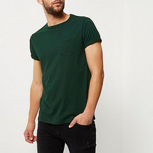 Online Shopping India Clothing 100% Cotton Pocket Blank Men Short Sleeve T Shirt