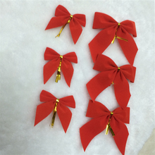Celebrate it ribbon bows red velvet fashion Christmas tree flower decorative supply