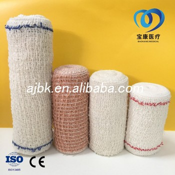medical cotton crepe bandage or sports elastic bandage