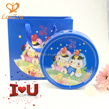 Empty cookie tins packaging cheap wholesale OEM custom metal round tin