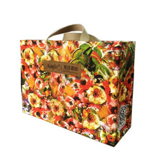 Luxury private logo offset printing shopping paper bag
