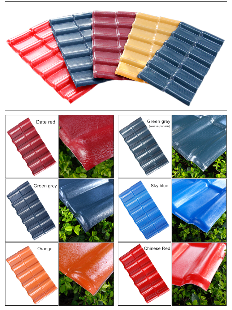 High-end Spanish style ASA synthetic resin roof tiles