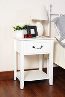 White Simple Design Wooden one drawer night stand/Bedside Table/End Table with shelf