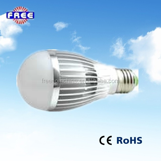 Freecom energy saving Aluminum Lamp Body Material and LED Light Source 5w led light bulb parts