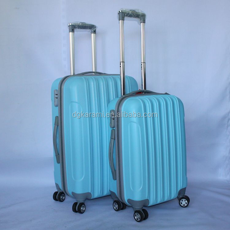 3pcs ABS hard CASE , stock abs/pc trolley suitcase factory 2015