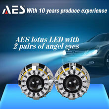 CCFL and LED angel eyes Lotus HID projector lens kit car auto lighting