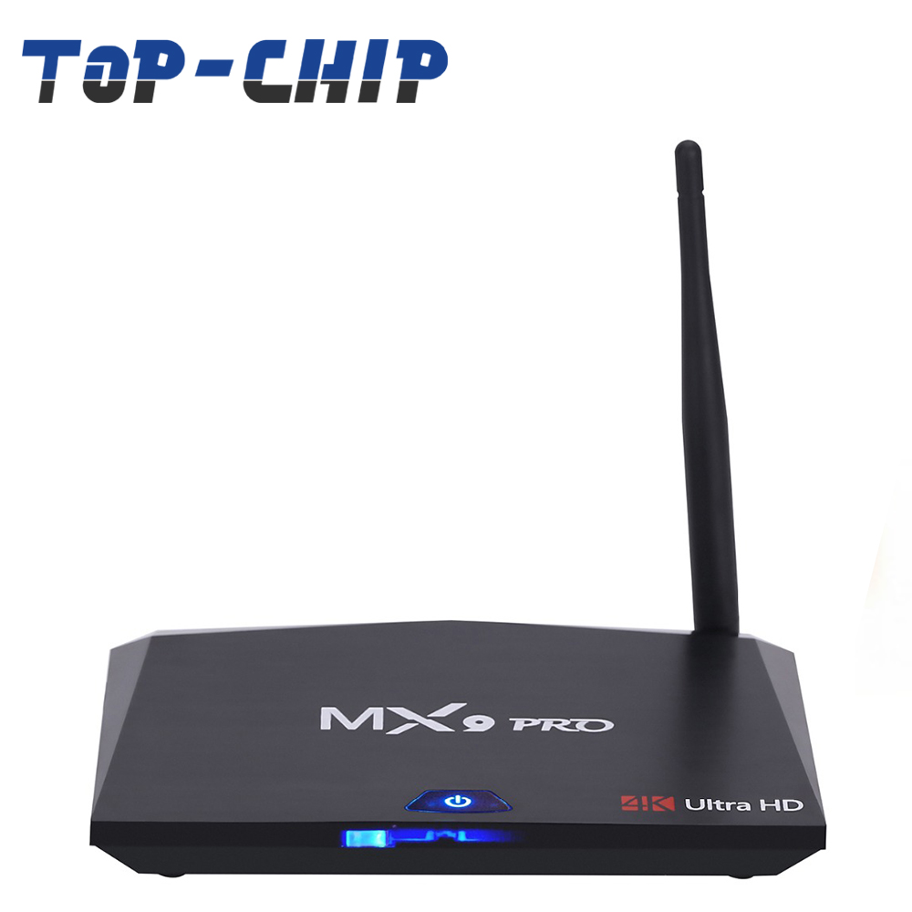 2018 factory direct price Newest Brand MX9 Pro Android 7.1 Smart TV Box RK3328 Quad-Core BT 4.0 Set-top box H.265
