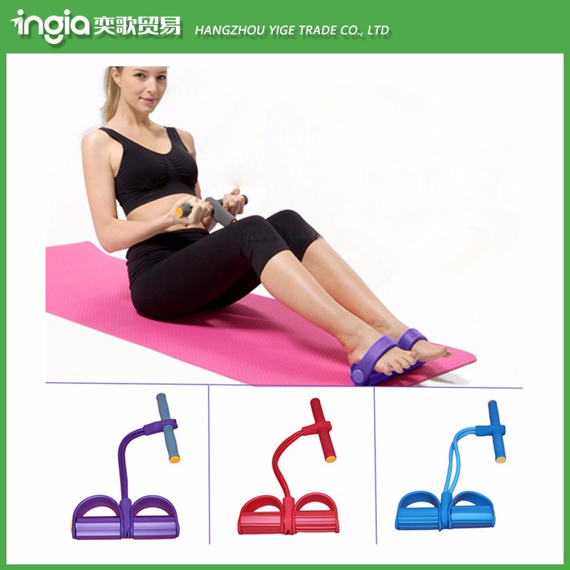 Wholesale Bodybuilding Expander Latex Tube Foot Elastic Pull Rope Slimming Indoor Sports Equipment