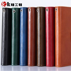 EXW price genuine leather phone bag with card holder for apple iphone phone case factory
