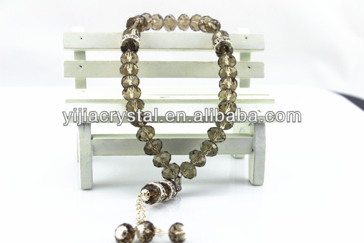 grey Various styles religious crystal chaplet