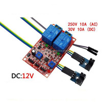 2 channel 12v Groove optocoupler speed detection sensor relay module electron component,Pick-Up when without cover