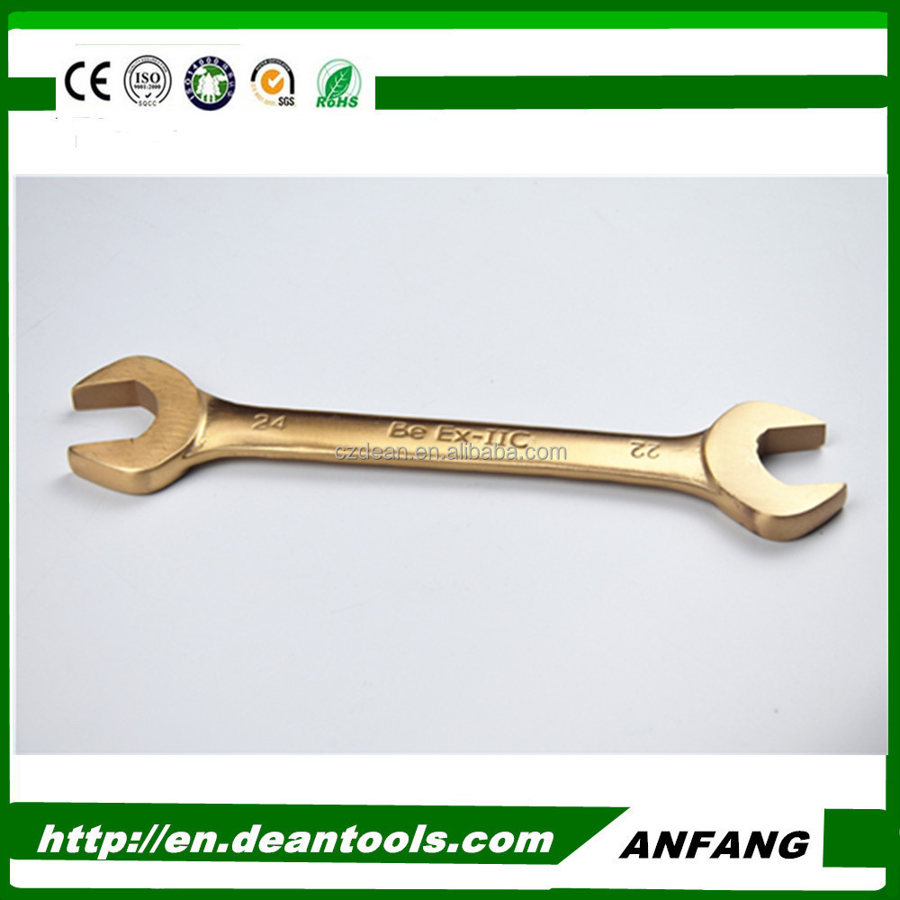 Non sparking double open end wrench hardware striking fork wrench