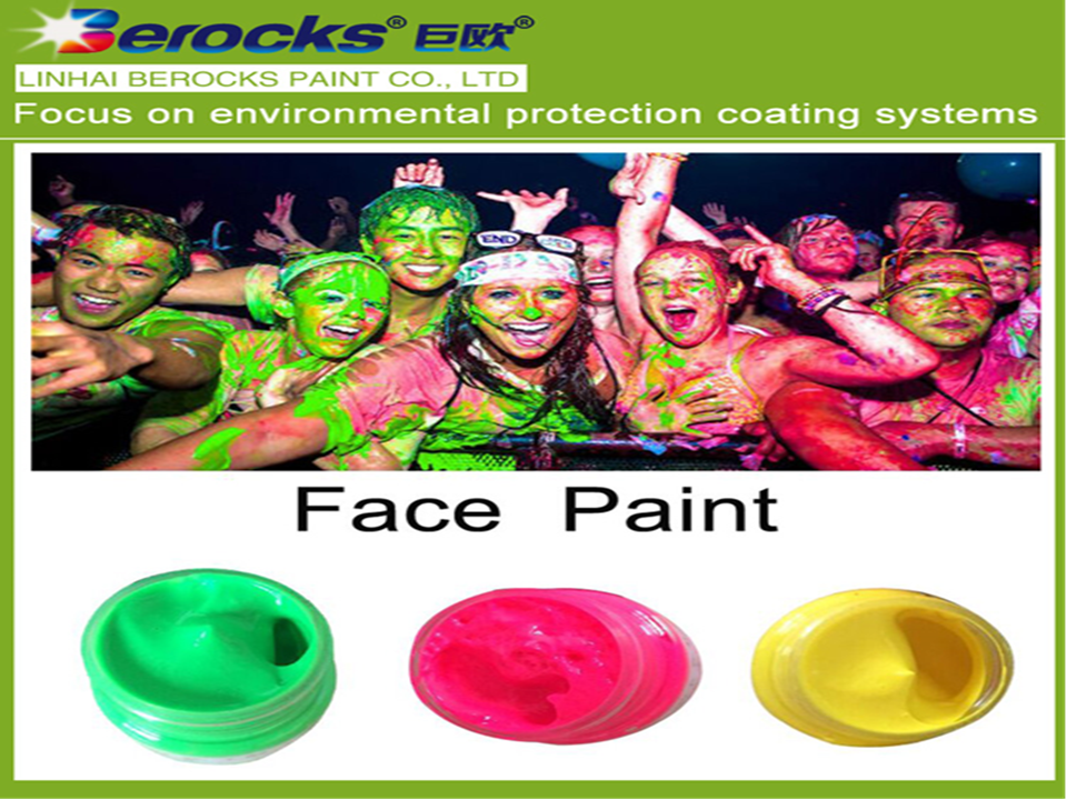 Waterproof colored drawing pigment water-based face make-up cream paste Halloween UV glow paint Berocks Face/Body Paint