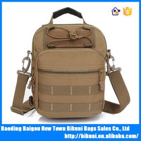 2015 China custom multi-functional outdoor military camouflage hunting canvas messenger bag backpack shoulder bag