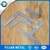 Steel and small aluminum slotted curtain angle bracket