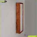 teak wood wall mounted bath cabinet