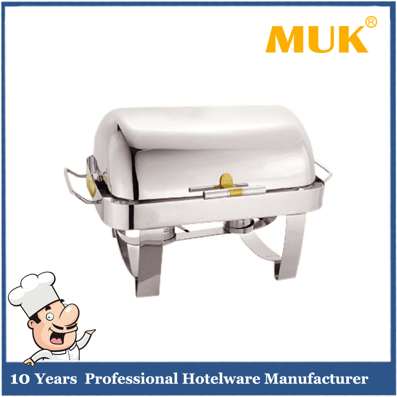 MUK restaurant luxury electric stainless steel food warmer buffet chafing dish
