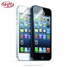 HD high clear soft 4H PET protective film guard membrane screen protector for iPhone 5 5S 5C SE
