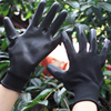 SRSAFETY 13 Gauge knitted black liner coated black PU on palm gloves, garden working gloves, China style gloves
