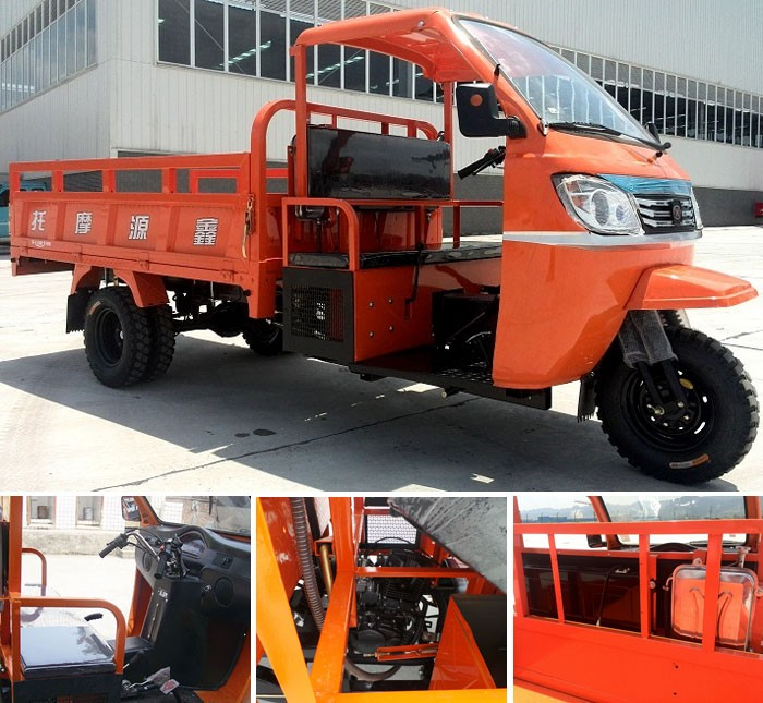 Semi closed driving cabin tricycle truck cargo tricycle With Discount In Africa