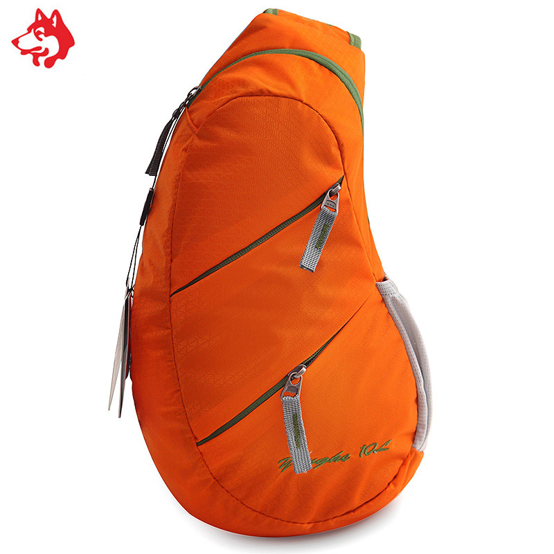 Outdoor Sports Casual nylon chest bag Shoulder Crossbody hiking orange Men Sling Bag
