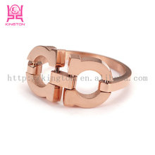 Custom special stainless steel symmetrical O style rings for girl