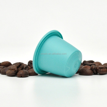 PP coffee colour capsules around cup