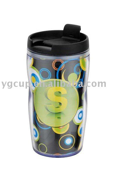 250ml prmotional plastic PP coffee tumbler