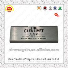 Embossing etching diamond cutting lacquer coating aluminum nameplates
