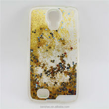 Cell Phone Accessory Flowing Sand Dynamic Liquid Glitter Bling Start Clear Hard PC Cover Case For Samsung