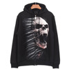 designer fashion indie urban wholesale custom print zipper man hoody black
