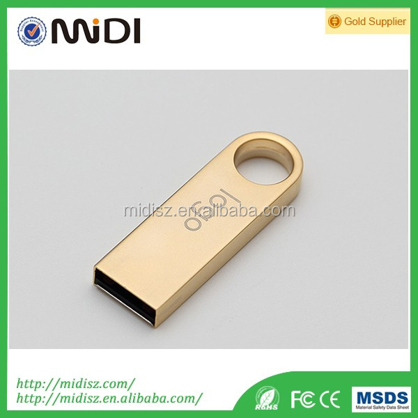 computer accessories Metal Pendrive round shape Usb Flash Drive with Customized Logo