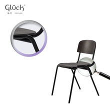 Black durable cheap wood dining chair FACTORY SC 1705