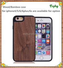 Enviroment wooden type phone case handmade back cover for iphone 6s wood case wholesales