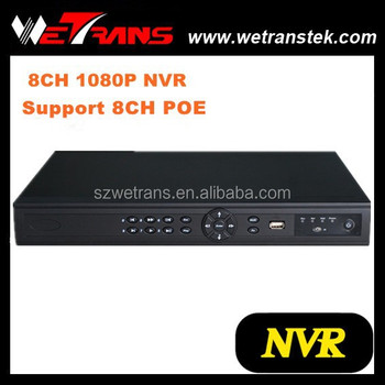 Wetrans 1080P HD Resolution and P2P function Onvif 8CH NVR with POE