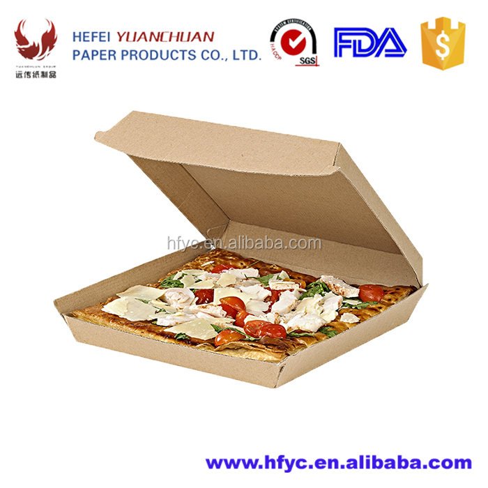Kraft paper fast food packaging boxes for pies