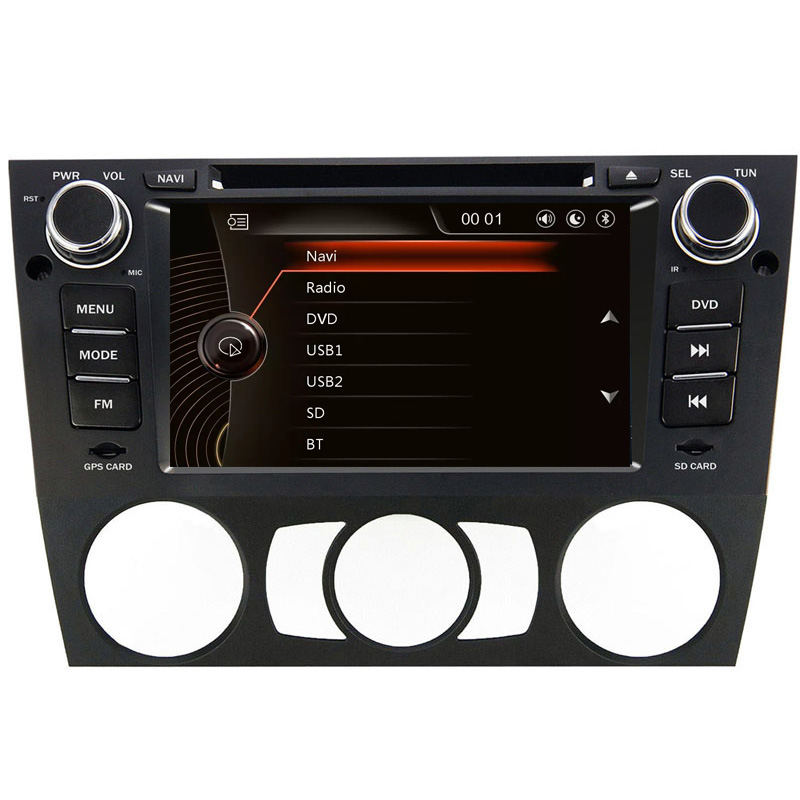 "7"" HD Capacitive Touch Screen Car DVD Player GPS Navigation for BMW E90 E91 E92 E93 E88 E82 Auto or Manual with Original BMW UI"