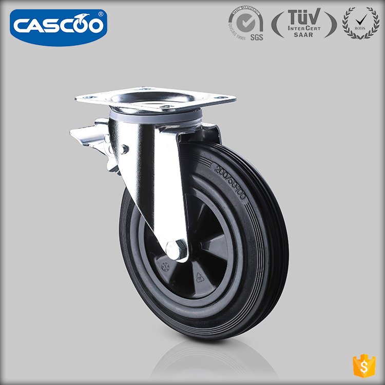 CASCOO 8 Inch Waste recycling container garbage bin wheel