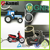 Custom top quality 2015 rubber keychain motorcycle keyrings