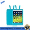 silicone rabbit case for ipad mini, FDA silicone cover