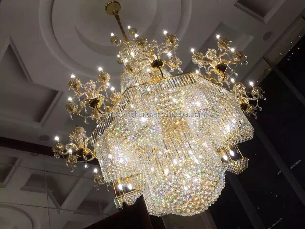modern contemporary crystal lights/hall lobby chandelier crystal Luxury classical manufacture