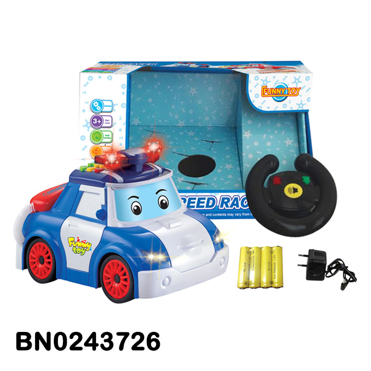 Rotating And Music Light Function Cartoon Remote Control Cars