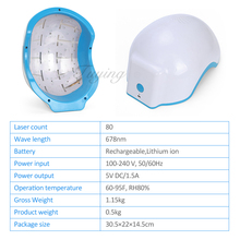 Laser hair regrowth helmet hair care therapy anti-hair loss machine with 80 diodes