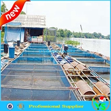plastic farming fishing cage netting blue color