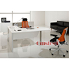 UV white latest wood manager office table design