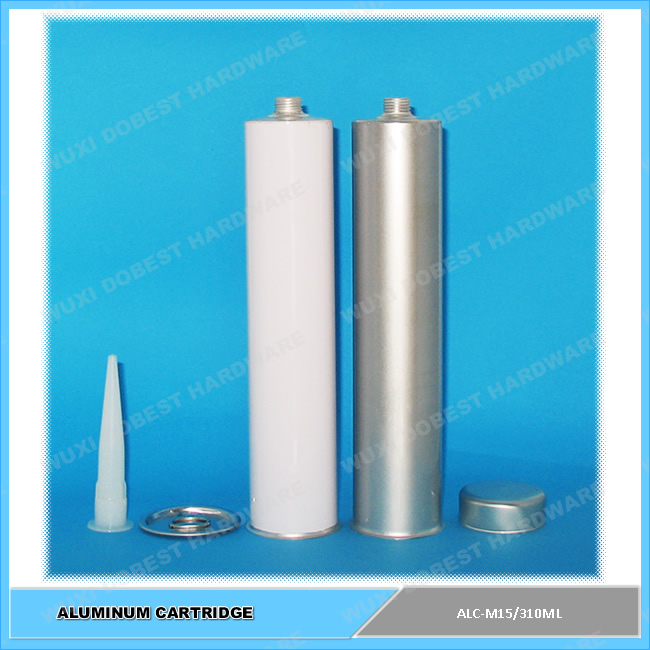 Empty PUR Hot melt Sealant Packing Tube 0.31L Aluminum Cartridge